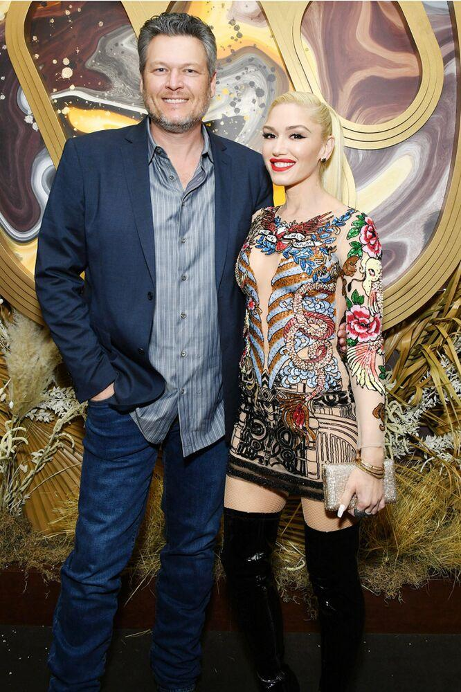 From left: Blake Shelton and Gwen Stefani earlier this week | Amy Sussman/Getty