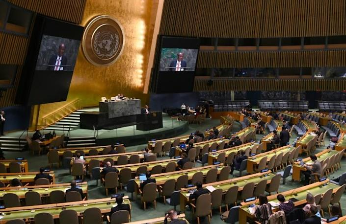 The UN General Assembly in New York (AFP Photo/TIMOTHY A. CLARY)