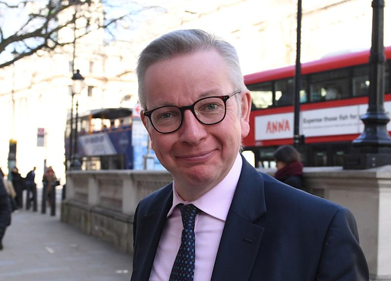 Chancellor of the Duchy of Lancaster Michael Gove arrives at the Cabinet Office in London, ahead of a meeting of the Government's emergency committee Cobra to discuss coronavirus.