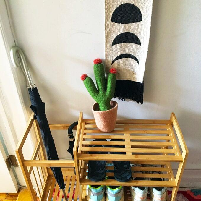 """<h2>Dotted Line Bamboo Entryway Shoe Rack</h2><br><strong>Deal: 46% Off</strong><br>A prime example of most wanted material: this sleek yet simple home buy offers multi-capable storage solutions in one streamlined unit fit for small spaces AND all within a tight $50 budget. <br><br><strong>Dotted Line</strong> Bamboo Entryway 8 Pair Shoe Rack, $, available at <a href=""""https://go.skimresources.com/?id=30283X879131&url=https%3A%2F%2Fwww.wayfair.com%2Fstorage-organization%2Fpdp%2Fdotted-line-bamboo-entryway-8-pair-shoe-rack-w001991740.html"""" rel=""""nofollow noopener"""" target=""""_blank"""" data-ylk=""""slk:Wayfair"""" class=""""link rapid-noclick-resp"""">Wayfair</a>"""