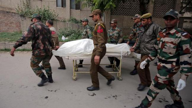 Two Army jawans and two policemen were killed today in an ongoing encounter between militants and security forces in Kupwara district's Halmatpora forest area in Jammu and Kashmir.
