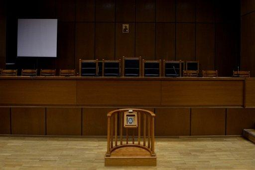 An empty courthouse is pictured at the supreme court in Athens in September 2012