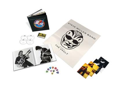 Renowned guitarist, multi-platinum-selling singer-songwriter, bandleader and Rock and Roll Hall of Fame inductee Steve Miller has opened up his voluminous archive of recordings for the first time ever to present a milestone 3CD + DVD box set. To be released October 11, 'WELCOME TO THE VAULT' covers Miller's genre-blurring six-decade career over 52 audio tracks, including 38 previously unreleased recordings. The accompanying DVD collects 21 live performances.
