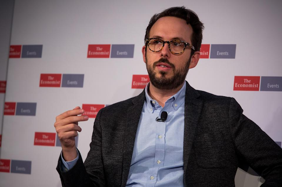 Chain CEO Adam Ludwin speaks at The Economist's Finance Disrupted conference in New York on Oct. 13, 2016. (Michael Nagle, Bloomberg/Getty)