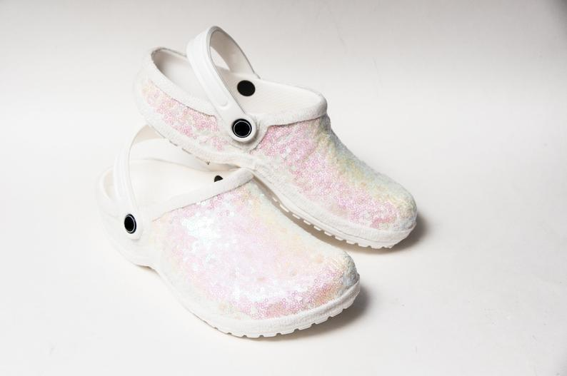 d4911ad1acf There Are Now Sparkly White Wedding Crocs - and the Internet Has Fallen in  Love