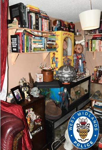 "Items found in the ""flat of horrors"". (PA/West Midlands Police)"