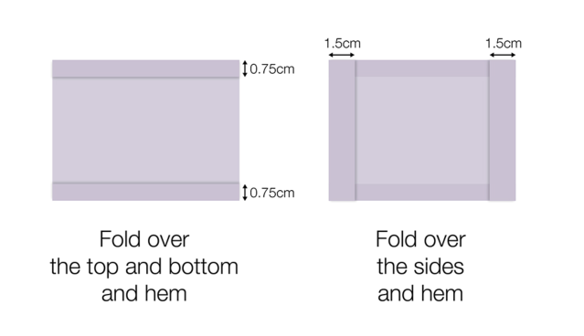 A covering can also be made from two squares of fabric. (Gov.uk)