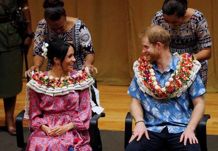 Britain's Prince Harry and Meghan, Duchess of Sussex, visit the University of the South Pacific in Suva, Fiji, October 24, 2018. REUTERS/Phil Noble/Pool