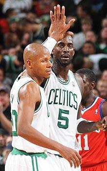 Ray Allen and Kevin Garnett will both become free agents after this season
