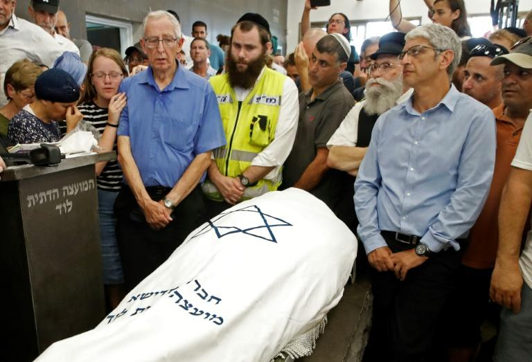 Relatives attended the funeral of 17-year-old Israeli Rina Shnerb in the city of Lod on Friday