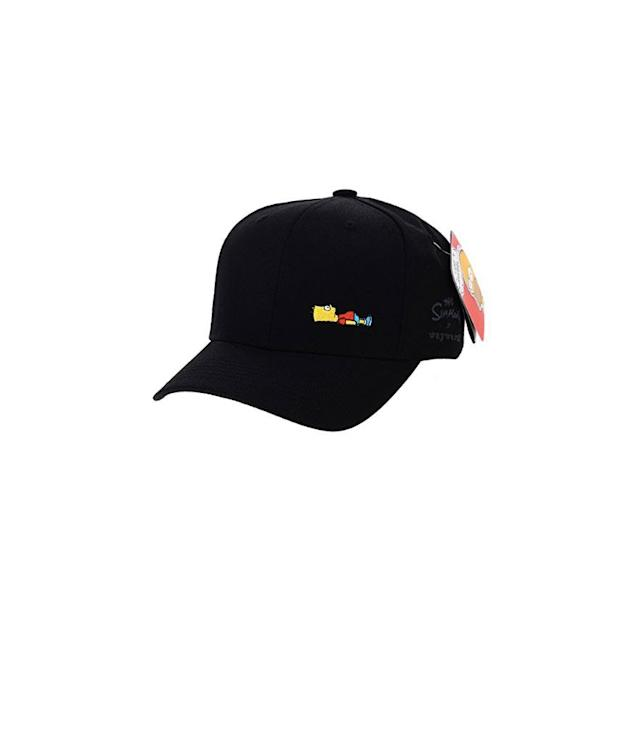"<p><em>The Simpsons</em> ball cap, $29,<a href=""https://www.amazon.com/WITHMOONS-Simpsons-Simpson-Comics-HL1716/dp/B071SL7W78/ref=sr_1_12?s=apparel&ie=UTF8&qid=1529508833&sr=1-12&nodeID=7141123011&psd=1&keywords=bart+simpson"" rel=""nofollow noopener"" target=""_blank"" data-ylk=""slk:amazon.com"" class=""link rapid-noclick-resp""> amazon.com</a> </p>"