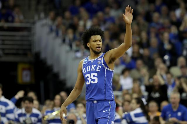 Marvin Bagley is leaving Duke for the NBA. (Getty)