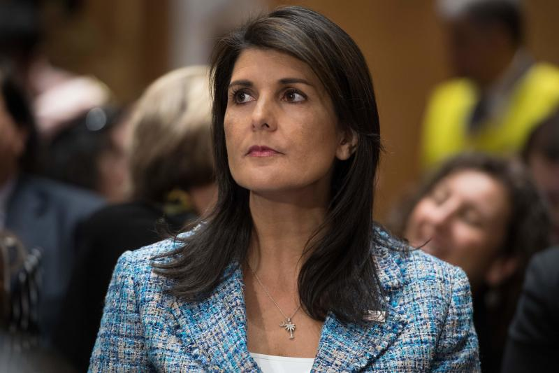Nikki Haley said on Sunday that the U.S. would impose additional sanctions on Russia, only to be contradicted by the White House.