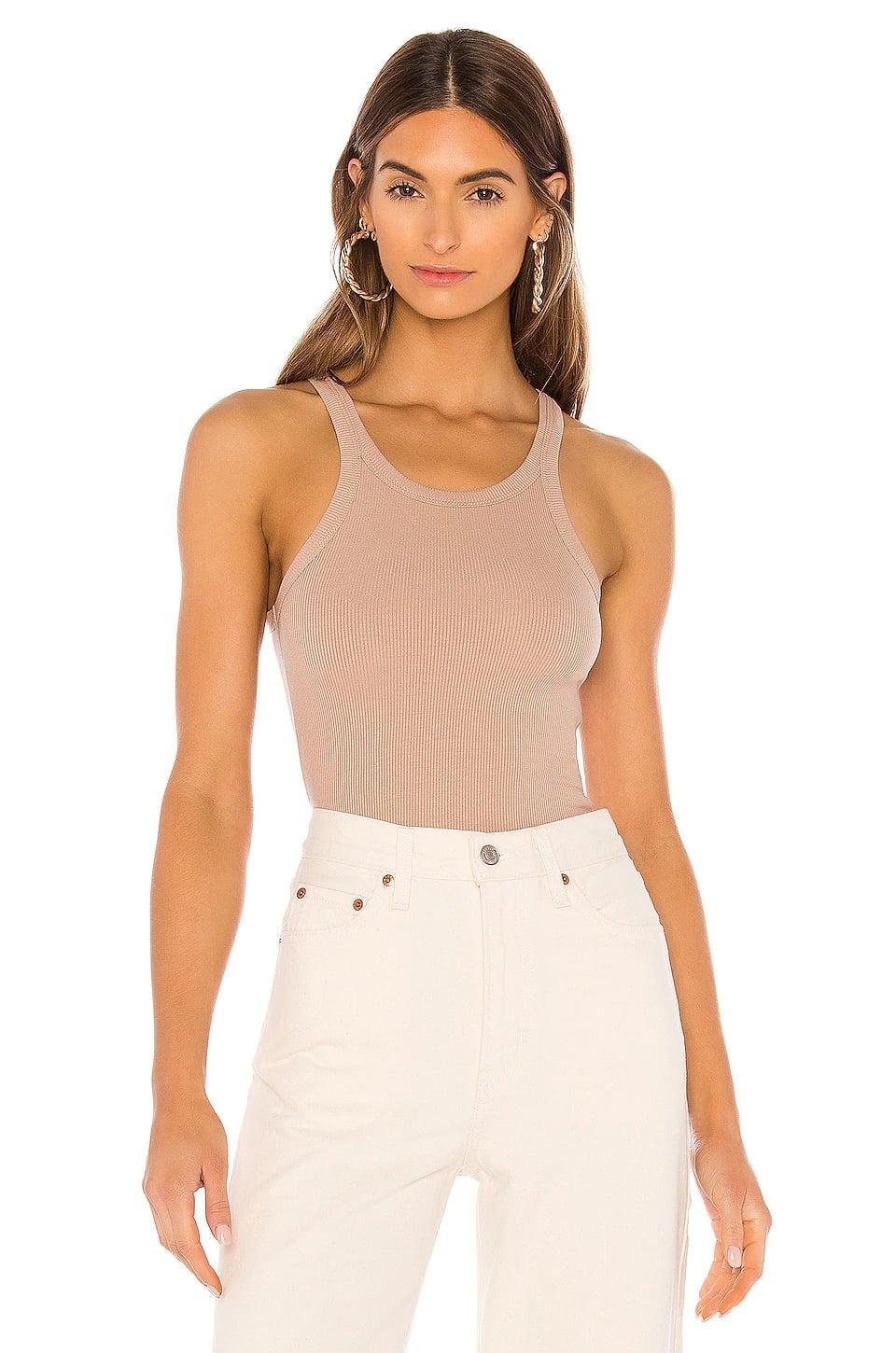 <p>This <span>LNA Skinny Racer Tank</span> ($66) comes in a bunch of different colors, but we love this soft neutral.</p>