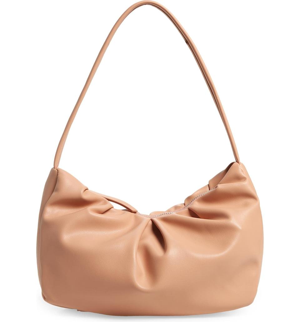 <p><span>Street Level Gathered Faux Leather Baguette Bag</span> ($25, originally $41)</p>