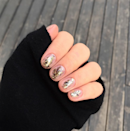 Slapdash stripes of glitter look perfectly imperfect. For the easiest mani and boldest impact, opt for a polish with big, chunky glitter flakes.