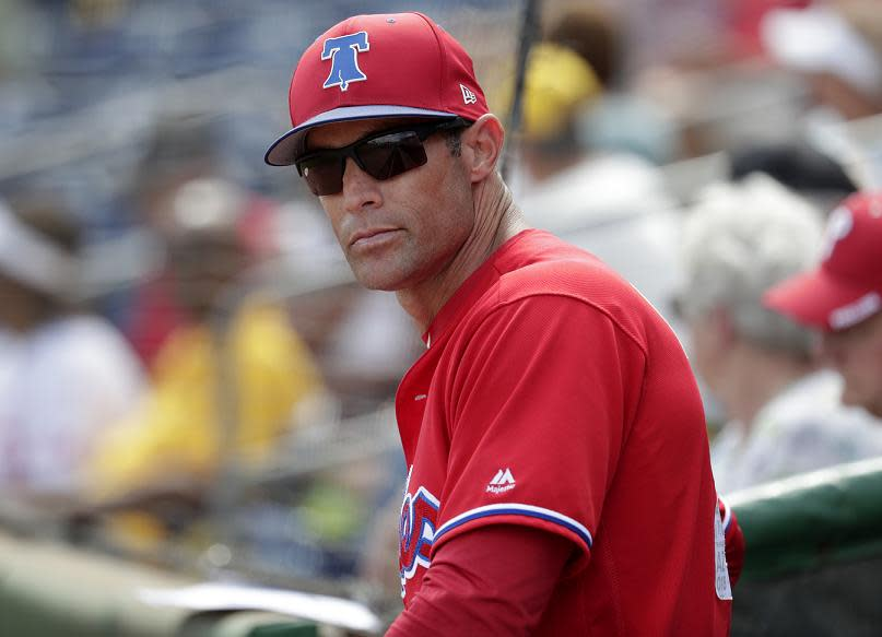 The start of Gabe Kapler's managerial career with the Phillies has not gone smoothly.