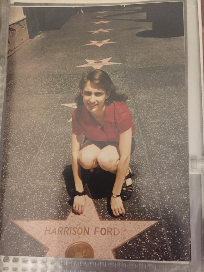 Darla Lansu pays a visit to Harrison Ford's star on the Hollywood Walk of Fame.