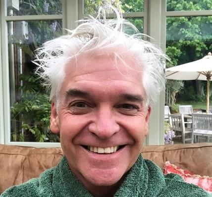 Phillip Schofield before his haircut. (Schofe/Instagram)