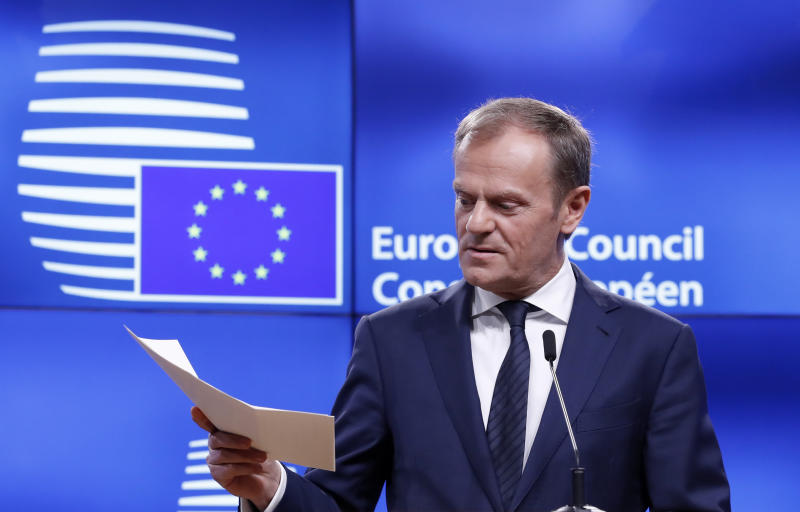 EU's Donald Tusk Warns Getting 'Emotional' Will Make Brexit Talks Impossible