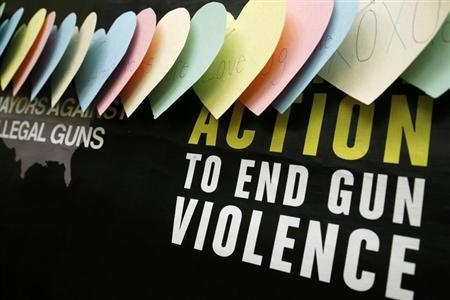 The groups Mayors Against Illegal Guns and Moms Demand Action for Gun Sense in America hold a news conference in Washington