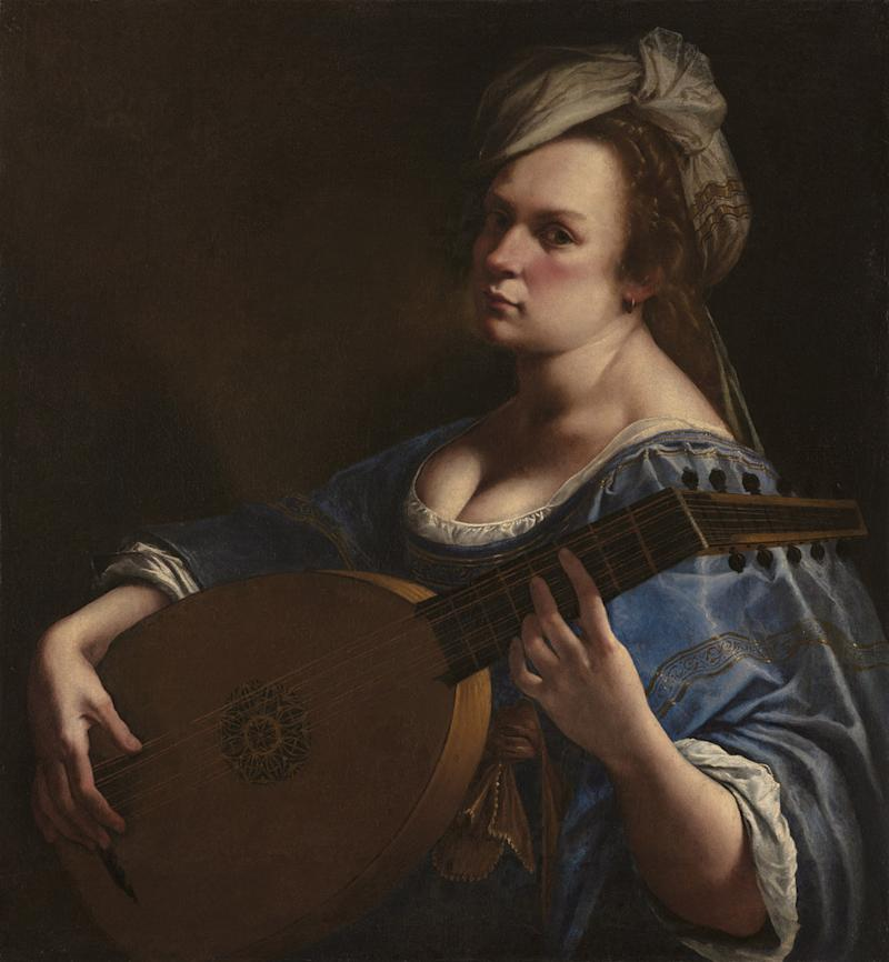 Artemisia Gentileschi, Self Portrait as a Lute Player, about 1615-18