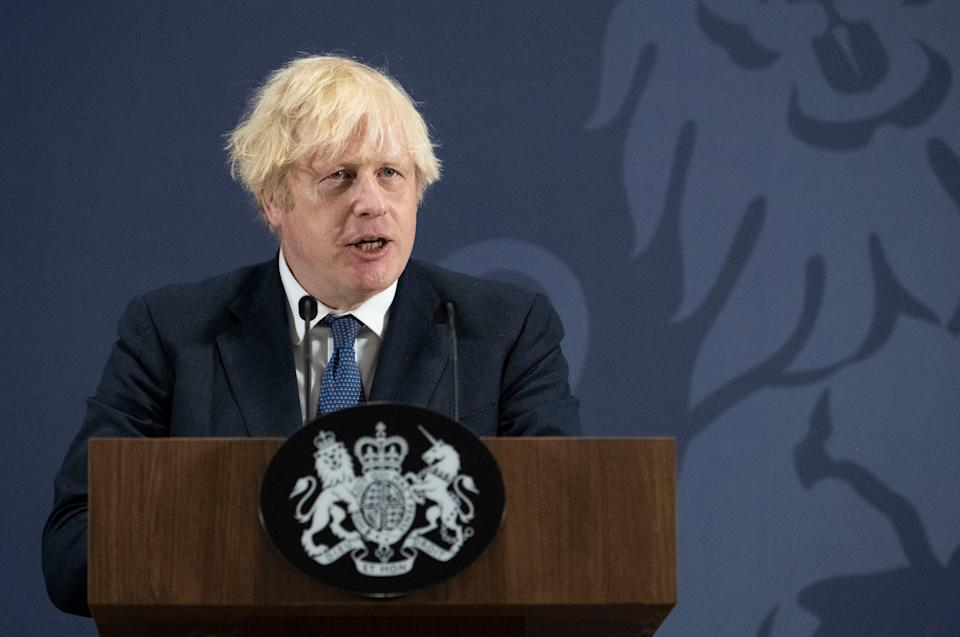 UK prime minister Boris Johnson would have to self-isolate following contact with health secretary Sajid Javid, who tested positive for coronavirus. Photo: David Rose/AFP via Getty Images