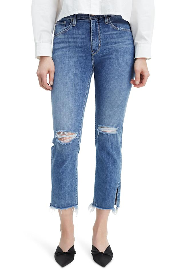 """<p><strong>LEVI'S</strong></p><p>nordstrom.com</p><p><strong>$78.40</strong></p><p><a href=""""https://go.redirectingat.com?id=74968X1596630&url=https%3A%2F%2Fshop.nordstrom.com%2Fs%2Flevis-724-ripped-high-waist-raw-edge-crop-jeans-split-decision%2F5209147&sref=http%3A%2F%2Fwww.cosmopolitan.com%2Fstyle-beauty%2Ffashion%2Fg25655872%2Fbest-jeans-for-women%2F"""" target=""""_blank"""">Shop Now</a></p><p>Denim with slits in the leg openings give you more ventilation in warmer months, and these are also edgy enough to wear on a night out. As one reviewer summed it up, they're """"comfortable with just the right high waist to keep everything smooth without being too restrictive."""" </p><p><strong>Why they're great:</strong> rated 4.5 out of 5 stars, have stretch but are more relaxed in the calf area, don't gape at the back </p>"""