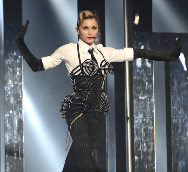 Madonna in 2012, on the 'MDNA' tour
