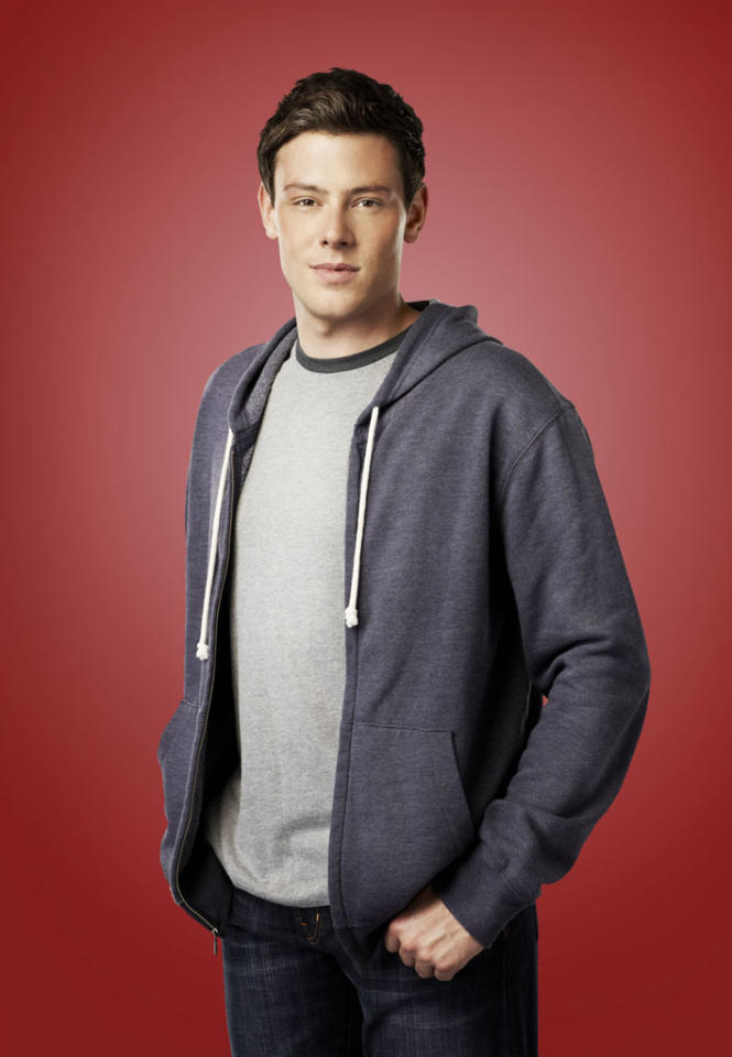 """Cory Monteith as Finn in """"Glee."""""""