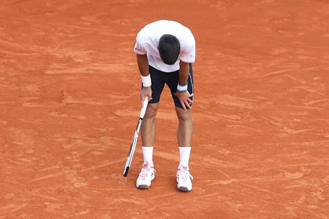 Serbia's Novak Djokovic reacts at the end of a tennis match against Belgium's David Goffin during the Monte-Carlo ATP Masters Series Tournament, on April 21, 2017 in Monaco (AFP Photo/VALERY HACHE)