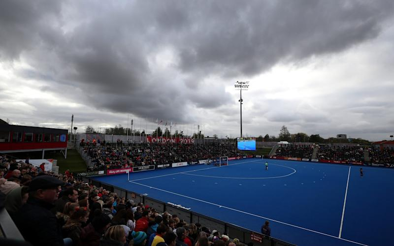 General view during the Olympic Qualifier match between Great Britain Women and Chile Women at Lee Valley Hockey and Tennis Centre on November 03, 2019 in London -England Hockey to review talent identification and access after second letter reports experience of racism - GETTY IMAGES