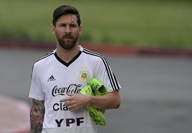 Argentina forward Lionel Messi is looking to kickstart his World Cup against Croatia (AFP Photo/JUAN MABROMATA)