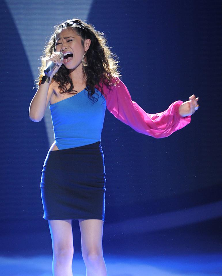 "Jessica Sanchez performs ""And I Am Telling You I'm Not Going"" by Jennifer Holliday on ""<a target=""_blank"" href=""http://tv.yahoo.com/american-idol/show/34934"">American Idol</a>."""