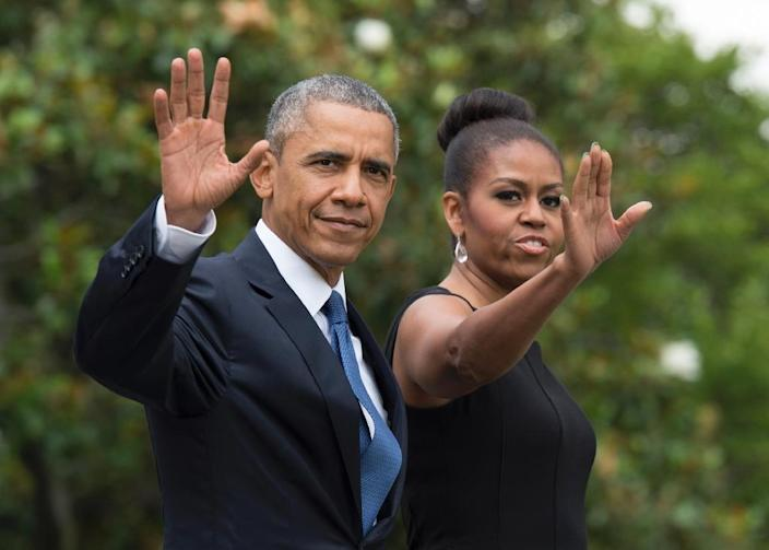 The Obamas are settling into a rented mansion in Washington's posh Kalorama district until their younger daughter Sasha finishes high school (AFP Photo/Molly Riley)