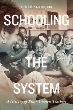 (Cover of 'Schooling the System' book showing children and teacher)