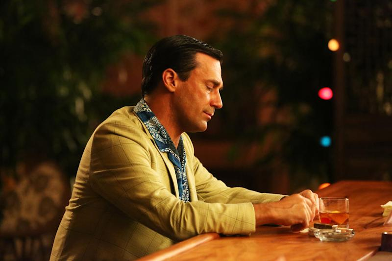 """This publicity photo provided by AMC shows Jon Hamm as Don Draper in a scene of """"Mad Men,"""" Season 6, Episode 1. """"Mad Men"""" returns for its sixth season Sunday, April 7, 2013, on AMC with 13 new episodes. Series Creator Matthew Weiner says he plans one more season for the 1960s drama. (AP Photo/AMC, Michael Yarish)"""