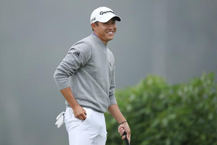 Collin Morikawa had plenty to smile about on Sunday. (Photo by Christian Petersen/PGA of America via Getty Images)