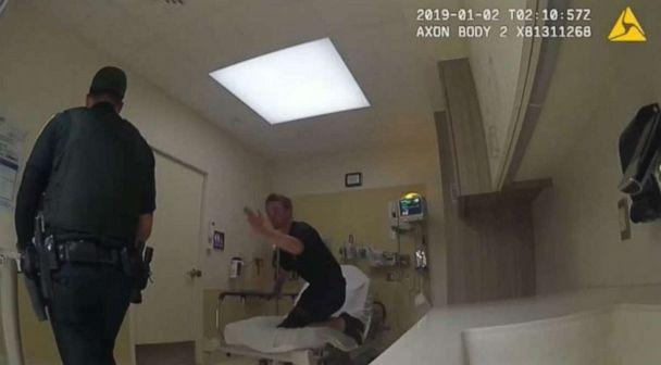 PHOTO: Officer bodycam footage showed Broward County Sheriff Deputy Jorge Sobrino punching David O'Connell and aggressively twisting his arm at a South Florida hospital in January. (Broward County Sheriff's Office)