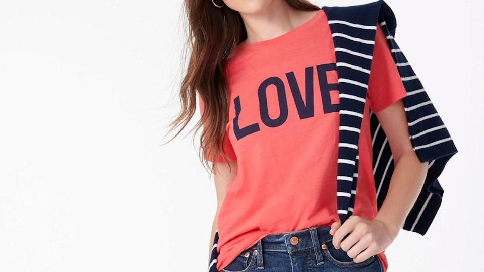 T-shirts, dresses, accessories and more are on sale at J.Crew for Independence Day.