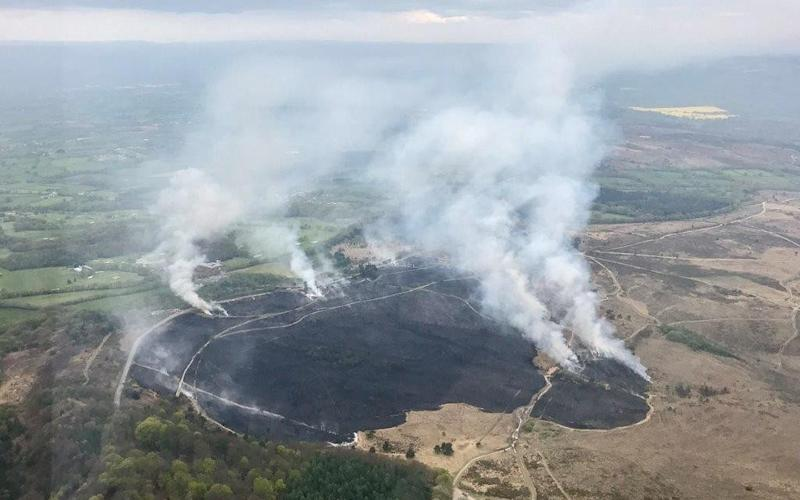 Fire - Credit: NPAS Exeter Police Helicopter
