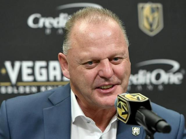 Vegas Golden Knights coach Gerard Gallant was fired Wednesday by the NHL club and replaced by Peter DeBoer, who was fired last month as coach of the San Jose Sharks (AFP Photo/Ethan Miller)