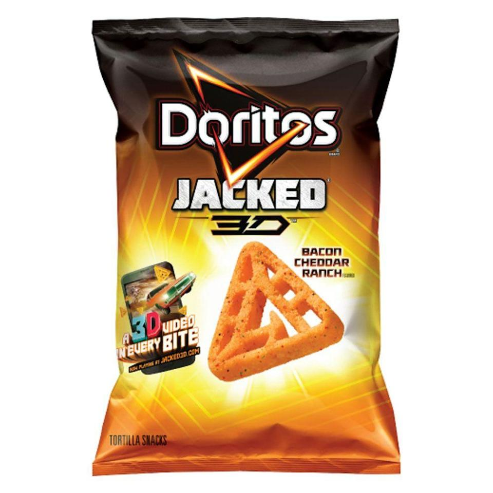 <p>When you're successful with one Dorito, you have to keep the flavors and shapes going. And the 3D one really stood out when it was released in 1991 as triangular as a classic Dorito, but in a hollow, three-dimensional shape.</p>