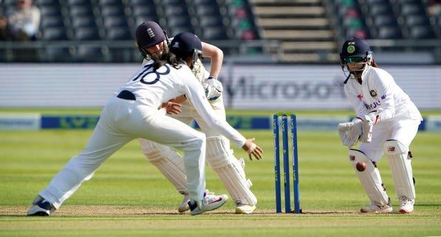 Heather Knight plays into the leg side