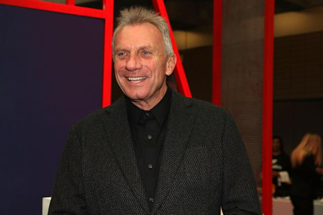 "A statue depicting Joe Montana and ""The Catch"" was vandalized after Monday night's game. (Photo by Shareif Ziyadat/WireImage/Getty Images)"