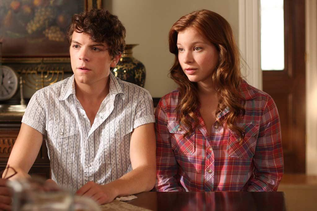 "Michael Seater  stars as Tom Bellow and Stacey Farber stars as Jessie Hill in ""18 To Life."""