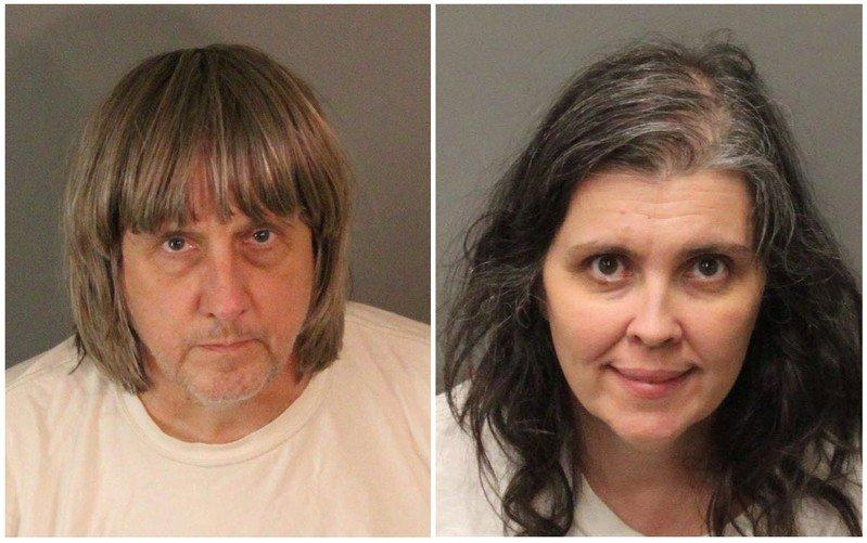 A combination photo of David Allen Turpin (L) and Louise Ann Turpin as they appear in booking photos provided by the Riverside County Sheriff's Department in Riverside County, California, U.S., January 15, 2018. Riverside County Sheriff's Department/Handout via REUTERS