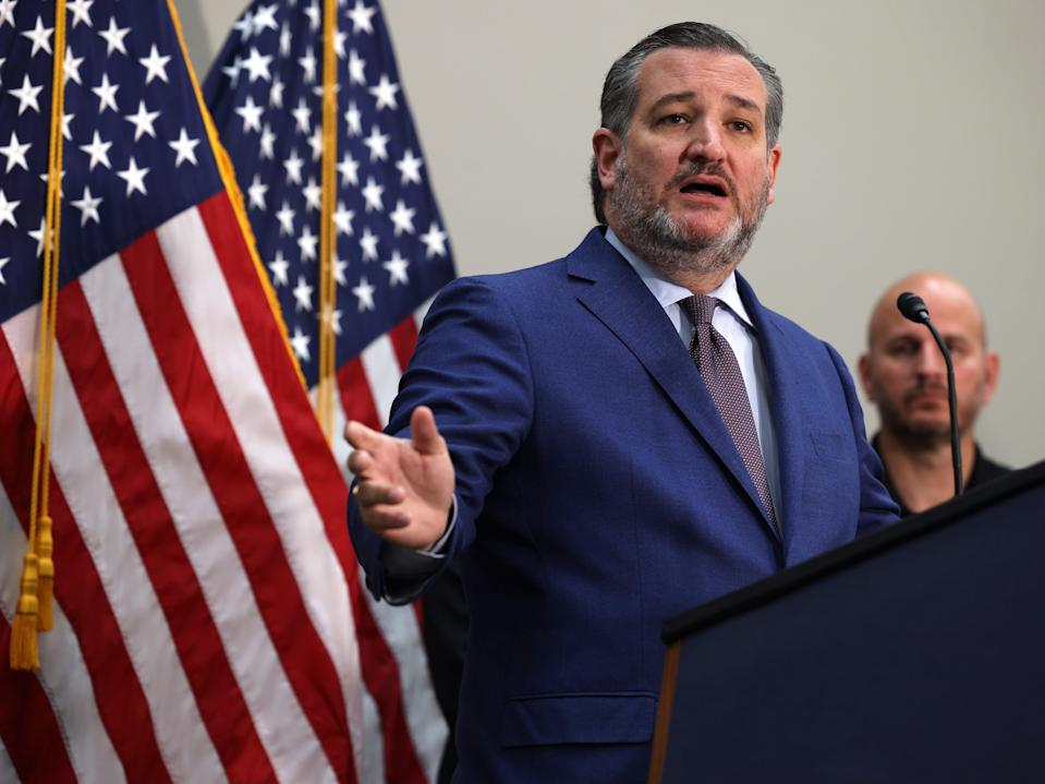Ted Cruz speaks during a news conference on 12 May 2021 in Washington, DC (Anna Moneymaker/Getty Images)