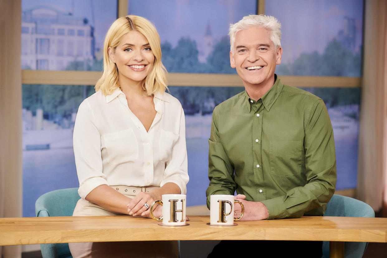 Holly Willoughby and Phillip Schofield welcomed Miriam Margolyes back to the show. (ITV)