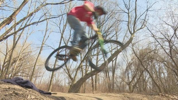 Aaron Rivard says the community will continue to build its own jumps.